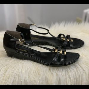 Enzo Angiolini black leather sandals size 10M